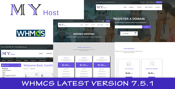 Image of My Host WHMCS Hosting Template