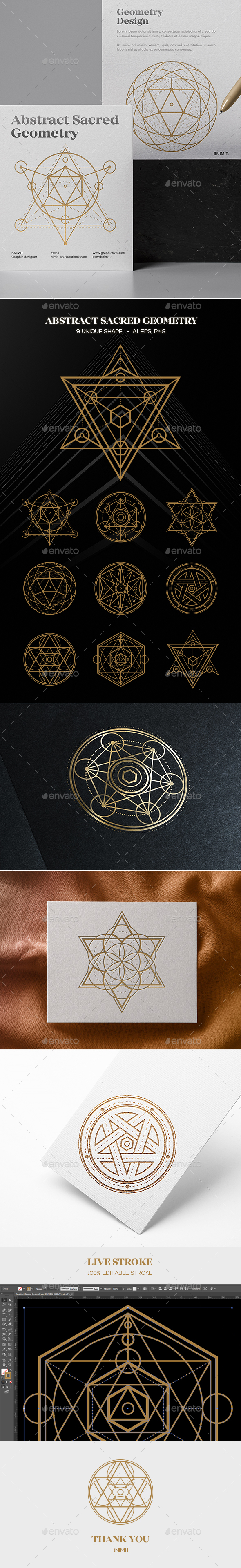 Abstract Sacred Geometry - Decorative Symbols Decorative