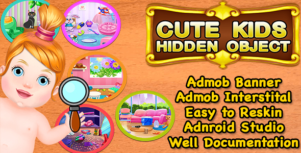 Cute Kids Hidden Object + Best Hidden Object Game For Kids + Admob + Android Studio            Nulled