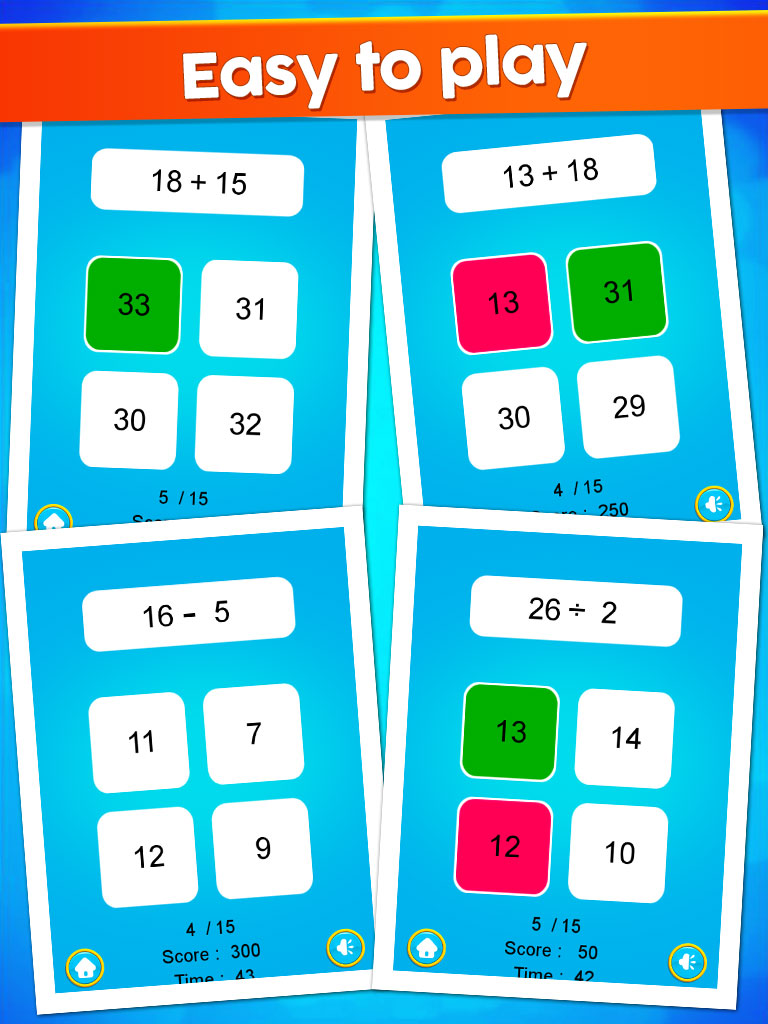 Kids Maths Operation - Kids Education Game - Android studio by iQueen
