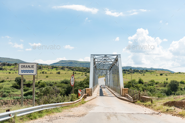Bridge over the Orange River between Sterkspruit and Zastron - Stock Photo - Images
