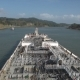 Tanker Ship Proceeding Through the Panama Canal. - VideoHive Item for Sale
