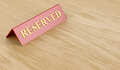 Reserved sign on wooden table  - PhotoDune Item for Sale
