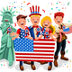 Independence Day Usa Background - GraphicRiver Item for Sale