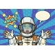 Wow Pop Art Woman Astronaut - GraphicRiver Item for Sale