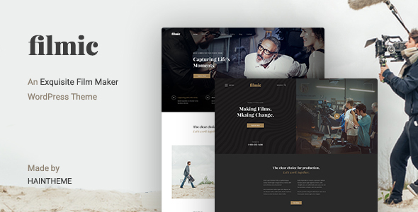 Filmic - Movie Studio & Film Maker WordPress Theme - Film & TV Entertainment