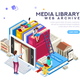 Media Library Vector Illustration - GraphicRiver Item for Sale