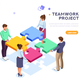 Teamwork Project Illustration - GraphicRiver Item for Sale