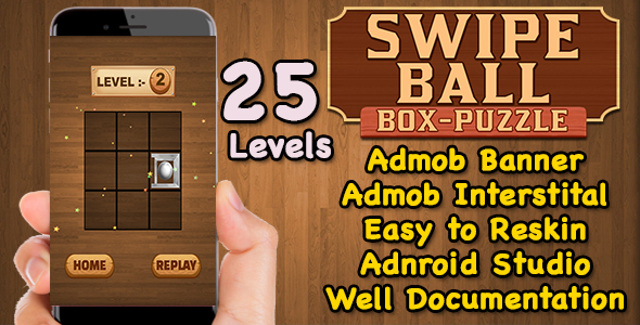 Swipe Ball Box Puzzle Game For Kids + Brain Teasers + Admob + Android Studio + Ready For Publish            Nulled