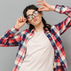 Funny cute young lady in glasses - PhotoDune Item for Sale