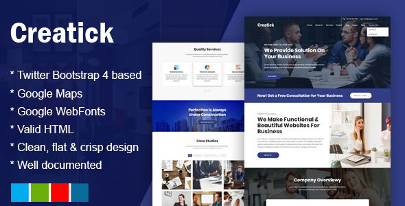 Image of Creatick - Multipurpose Business Consulting and Professional Services Template
