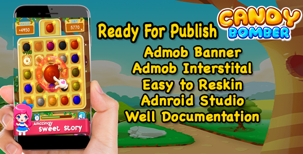 Candy Bomber - Best Kids Game - Match Puzzle - Ready For Publish - CodeCanyon Item for Sale