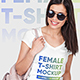 Female V-Neck T-Shirt and Backpack Mockups - GraphicRiver Item for Sale