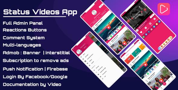 Status Videos App - Pro - CodeCanyon Item for Sale