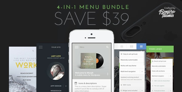 WordPress Mobile Menu Bundle - CodeCanyon Item for Sale