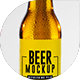 Realistic Beer Bottle and Glass Mockup - GraphicRiver Item for Sale