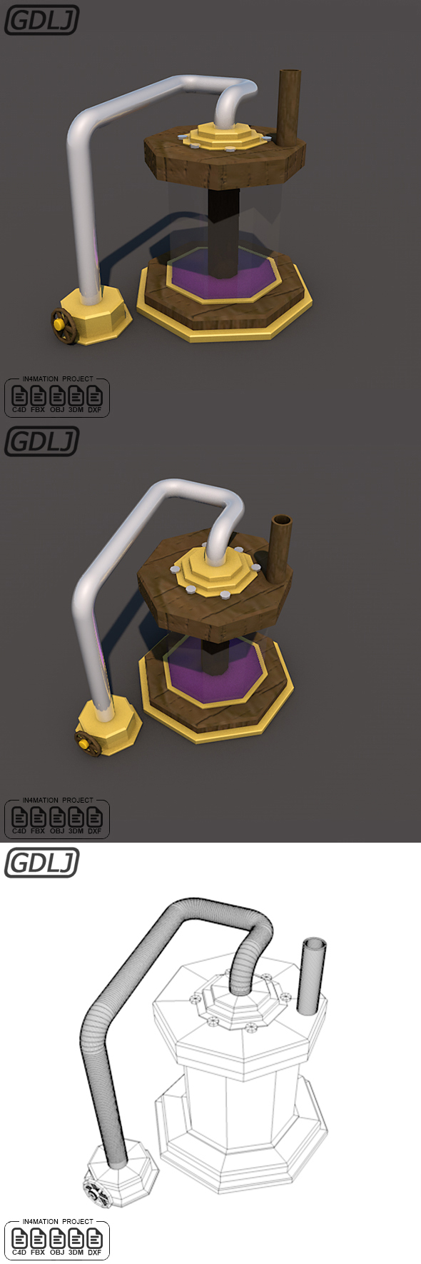 Elixir Collector level one 3D Model Clash of clans - 3DOcean Item for Sale
