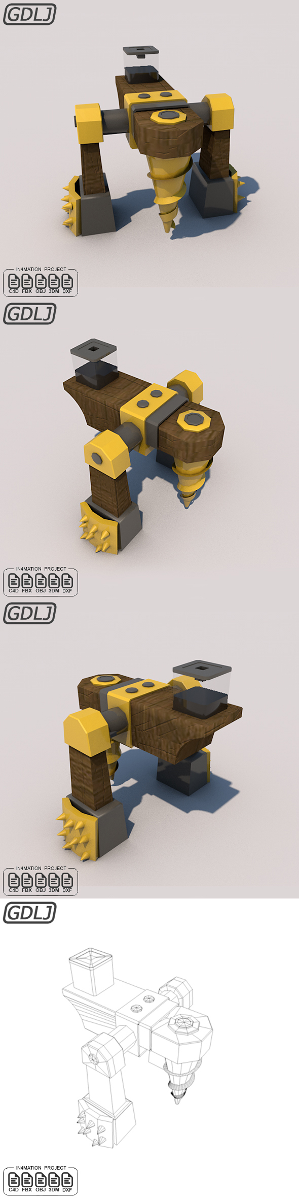 Dark Elixir Drill level six 3D Model Clash of clans - 3DOcean Item for Sale