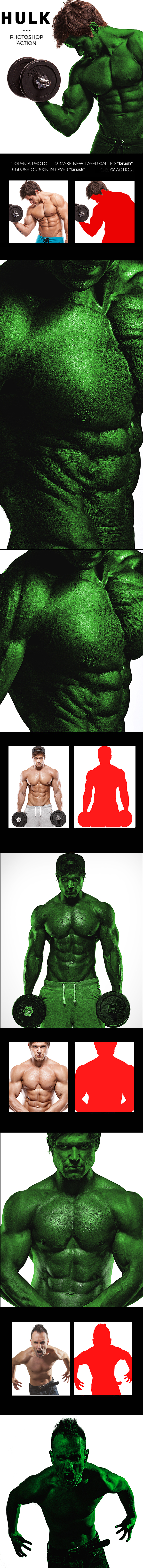 Hulk Photoshop Action - Photo Effects Actions
