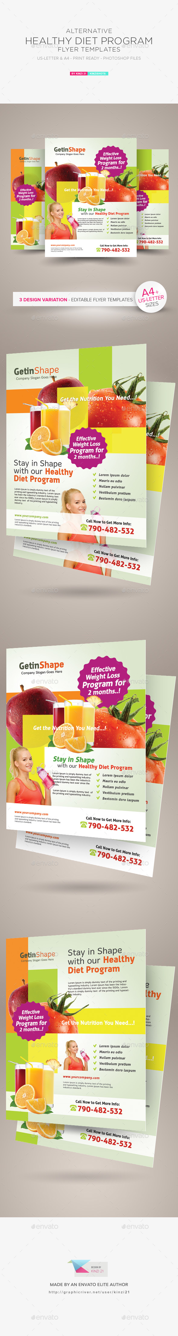 Healthy Diet Program Flyers - Corporate Flyers