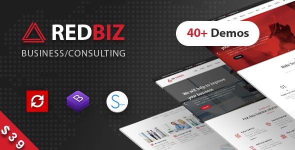 Image of RedBiz - Finance & Consulting Multi-Purpose WordPress Theme