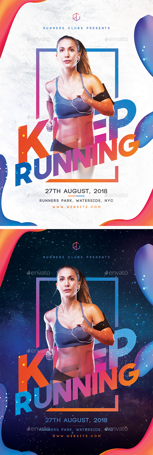 Keep Running Flyer - Sports Events