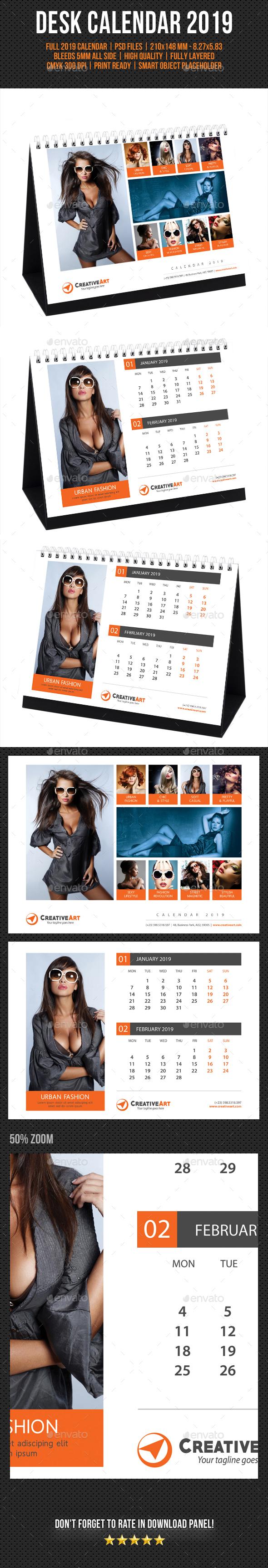 Creative Desk Calendar 2019 V16 - Calendars Stationery
