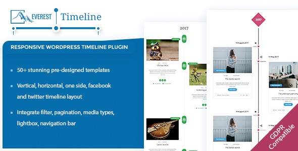 Everest Timeline - Responsive WordPress Timeline Plugin - CodeCanyon Item for Sale