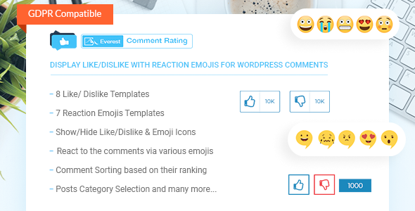 Everest Comment Rating - Display Like/Dislike With Reaction Emojis For WordPress Comments - CodeCanyon Item for Sale