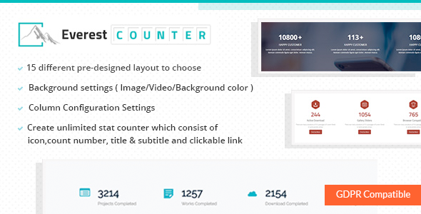 Everest Counter - Beautiful Stat Counter Plugin for WordPress - CodeCanyon Item for Sale