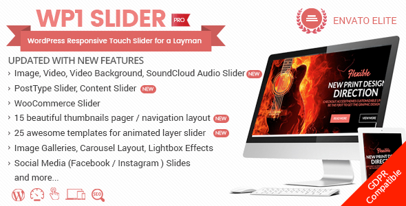 WP1 Slider Pro - WordPress Responsive Touch Slider for a Layman - CodeCanyon Item for Sale