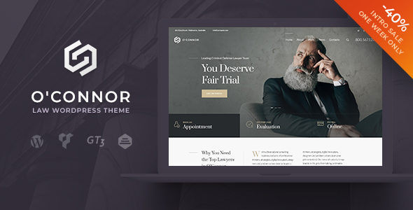 Image of Oconnor – Lawyers Attorneys and Law Firm WordPress Theme