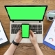 Phone Display with Green Screen Next To a Laptop with Chroma - VideoHive Item for Sale