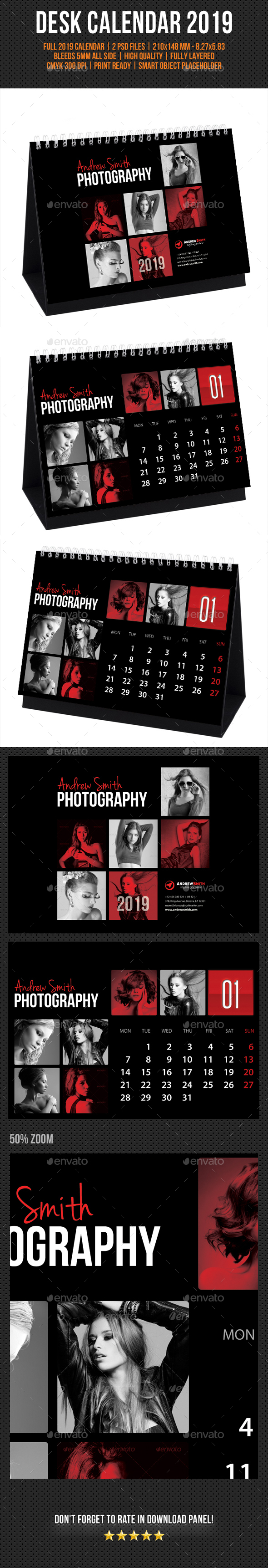 Creative Desk Calendar 2019 V15 - Calendars Stationery