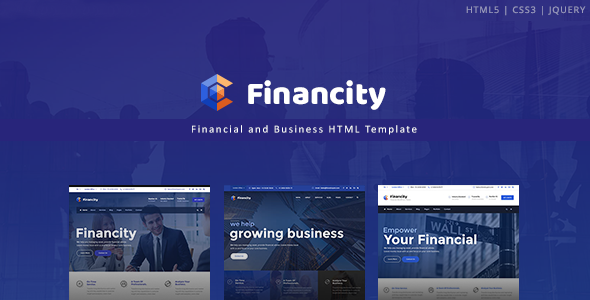 Image of Financity - Business / Financial / Finance HTML Template