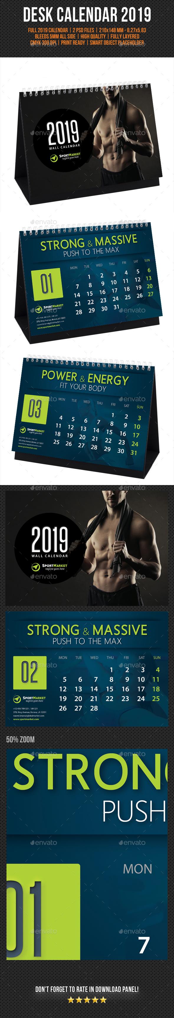 Creative Desk Calendar 2019 V14 - Calendars Stationery