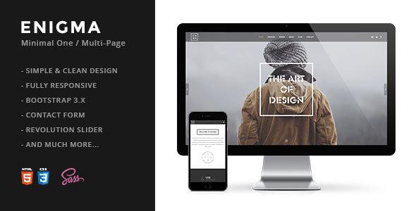 Enigma   Creative Responsive Minimal HTML Template - Creative Site Templates