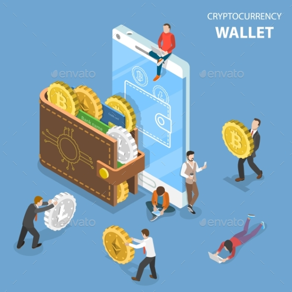 Cryptocurrency Wallet Flat Isometric Vector by TarikVision - GraphicRiver Cryptocurrency Wallet Flat Isometric Vector - 웹