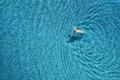 Aerial view of swimming woman in mediterranean sea - PhotoDune Item for Sale