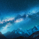 Milky Way and snowy mountains in Nepal at night - PhotoDune Item for Sale