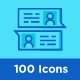 100 Message and Communication Icons - GraphicRiver Item for Sale