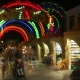 Entrance in Amusement Park at Night, People Walk and Bay Souvenirs - VideoHive Item for Sale