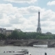 View of Eifel Tower, American Church in Paris, Invalides Bridge, Pleasure Boat - VideoHive Item for Sale
