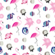 Seamless pattern with flamingos - summer theme