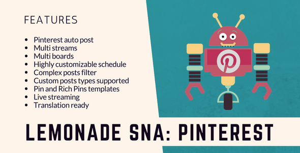 Lemonade Social Networks Autoposter: Pinterest PRO - CodeCanyon Item for Sale