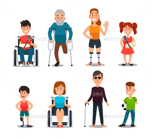 Disability People - People Characters