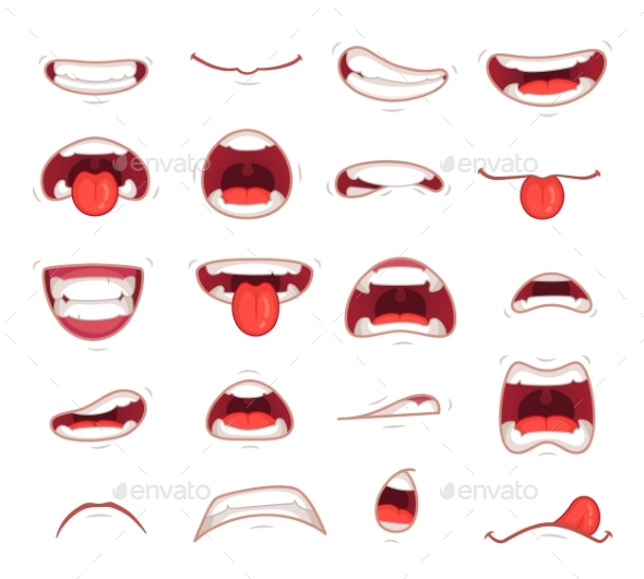 Cartoon Mouths - People Characters