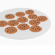 Chocolate Cookies Platter - 3DOcean Item for Sale