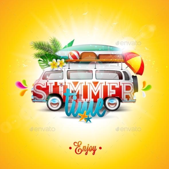 Vector Summer Holiday Illustration - Miscellaneous Vectors