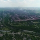 Aerial Panoramic View of the Industrial City Pollution and Smoke. - VideoHive Item for Sale